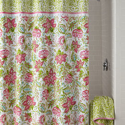 """Dena Home - Dena Floral Ikat Shower Curtain - MULTI - Dena HomeDena Floral Ikat Shower CurtainDetailsMade of cotton.Machine wash.72""""Sq.Liner not included.Imported."""