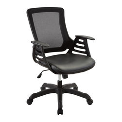 Modway - Modway EEI-290 Veer Office Chair in Black - Chart new territory while seated from the comfort of the Veer Chair.