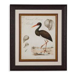 Bassett Mirror - Bassett Mirror Framed Under Glass Art, Heron Anthology II - Heron Anthology I