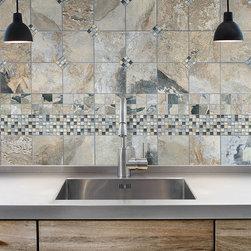 Silver Aspen 5/8x5/8 | Anatolia Bliss Mosaic Tile - http://www.worldclasstiles.com/silver-aspen-bliss-collection-by-anatolia-tile-stone-5-8-x-5-8-glass-slate-quartz-blend-mosaics/
