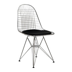 Tower Dining Side Chair - Wonderfully minimalist and playful in design, the Wire Tower Side Chair is exemplary of the Modern Classic style. Great for kitchen or living room, this piece is sure to draw the eye.