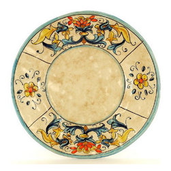 Artistica - Hand Made in Italy - RINASCIMENTO: Dinner Plate - The Rinascimento is an exclusive design for Artistica by the Umbrian renown artist Rale of OperaNova.