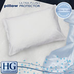 HealthGuard - HealthGuard Bed Protector Ultra Plush Jumbo-size Pillow Protectors (Set of 2) - Make your pillows last longer with these handy pillow protectors from HealthGuard, which come in a set of two. Each protective cover is made from cotton and polyurethane, which block dust mites, reduce allergens, and resist water damage.