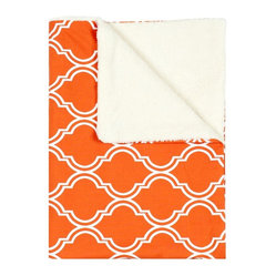 Contemporary Persimmon Baby Blanket