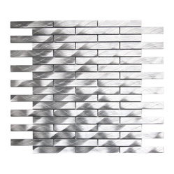 Long Brick Pattern Aluminum Mosaic Tile Sample