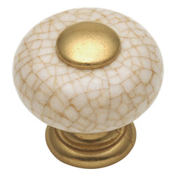 Hickory Hardware - Tranquility Vintage Brown Crackle Cabinet Knob - Bridges contemporary and traditional design. Offering a deep rooted sense of history in some, with an updated feel and cleaner lines.