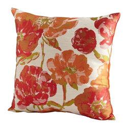 Cyan Design - Cyan Design Flower Power Pillow in Orange - Cyan Design Flower Power Pillow in Orange from Decorative Pillows Collection