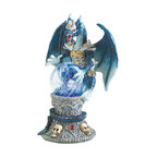 """Koehler Home Decor - Koehler Home Decor Color Change Dragon Figurine - An armored dragon gazes deeply into a glowing crystal ball, beholding the secrets of centuries past. Color-change LED light casts a mystical glow from within this fascinating sculpture. Polyresin. Three AG10 cell button batteries not included. 4.75""""x 3""""x 6.5"""" high.Material: Polyresin. Size: 4.75""""x 3""""x 6.5"""" high."""