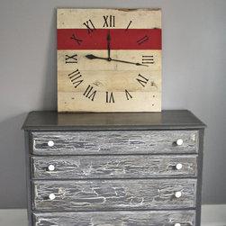 "Large Pallet Wood Wall Clock (26"" x 26"") - Terra Wertz"