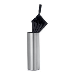 Blomus - CASA Umbrella Stand - With its sleek and modern design, the CASA Umbrella Stand by Blomus stores your umbrellas without any frills. If you live in particularly wet climes, this essential piece will keep your floors dry and your umbrellas easily accessible. The smooth cylindrical body is constructed from superior stainless steel and completed with a beautiful matte finish perfect for any contemporary home.