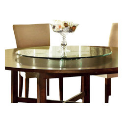 Steve Silver Furniture - Steve Silver Avenue Lazy Susan in Brown - Nothing can transform your world in as many ways as the Avenue dining collection. The triple edge lazy susan is 40 Inch round and add nothing but style to the avenue table.