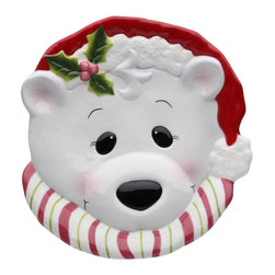 """Cosmos - Set of 4 """"I Believe In Santa Claus"""" Polar Bear Christmas Plates - This gorgeous Set of 4 """"I Believe In Santa Claus"""" Polar Bear Christmas Plates has the finest details and highest quality you will find anywhere! Set of 4 """"I Believe In Santa Claus"""" Polar Bear Christmas Plates is truly remarkable."""