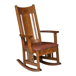 Chelsea Home Furniture - Chelsea Home Lambright Rocker - Bird Standard - Chelsea Home Furniture proudly offers handcrafted American made heirloom quality furniture, custom made for you.
