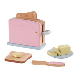KidKraft - Pastel Toaster Set by Kidkraft - Children often want to help their parents in the kitchen. With our Pastel Toaster Set your young helpers will be able to take care of the toast all on their own! The bright colors and rich details of this wooden 9-piece set are sure to keep imaginations running wild.