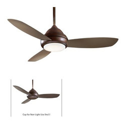 Minka Aire - Minka Aire Concept I 52 Wet Ceiling Fan in Oil Rubbed Bronze - Minka Aire Concept I 52 Wet Model F577-ORB in Oil Rubbed Bronze with Taupe Finished Blades. Included Single Light Fixture for Concept II.