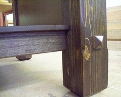 Cedar Vanity  Leg detail - Kitchens North Inc, Charlevoix, Michigan