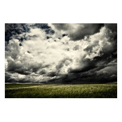 """Stormy Meadow, Painting - Canvas is supported with a solid wood stretcher frame that is 1 3/4"""" deep.  Edges are gallery wrapped with a continuous giclee printed edge so no framing is required."""