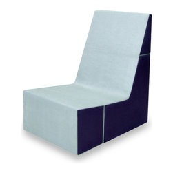 Cubit Chair, Spa/Cobalt - Multipurpose, lightweight chair folds down into a small cube for easy shipping and storage.