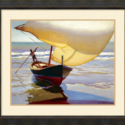 Amanti Art - Fishing Boat, Spain Framed Print by Arthur Grover Rider - Arthur Grover Rider invites you to the coasts of Spain with this image of 'Fishing Boat'. A charming piece for all home decor styles, whether traditional or casual.