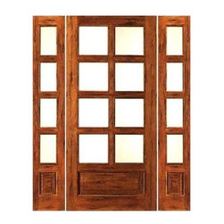 "Prehung Rustic-8-lite-P/B French Solid 1 Panel IG Glass Sidelites Door - SKU#    Rustic-8-lite-P/B-Ext-1-2Brand    AAWDoor Type    FrenchManufacturer Collection    Rustic French DoorsDoor Model    Door Material    WoodWoodgrain    Tropical HardwoodVeneer    Price    1728Door Size Options    [24""+2(14"") x 80""] (4'-4"" x 6'-8"")  $0[24""+2(18"") x 80""] (5'-0"" x 6'-8"")  $0[30""+2(14"") x 80""] (4'-10"" x 6'-8"")  +$10[30""+2(18"") x 80""] (5'-6"" x 6'-8"")  +$10[32""+2(14"") x 80""] (5'-0"" x 6'-8"")  +$10[32""+2(18"") x 80""] (5'-8"" x 6'-8"")  +$10[36""+2(14"") x 80""] (5'-4"" x 6'-8"")  +$10[36""+2(18"") x 80""] (6'-0"" x 6'-8"")  +$10Core Type    SolidDoor Style    Door Lite Style    3/4 Lite , 8 LiteDoor Panel Style    1 Panel , Chamfer StickingHome Style Matching    Mediterranean , LogDoor Construction    Engineered Stiles and RailsPrehanging Options    PrehungPrehung Configuration    Door with Two SidelitesDoor Thickness (Inches)    1.75Glass Thickness (Inches)    1/2Glass Type    Double GlazedGlass Caming    Glass Features    Insulated , Tempered , low-E , Beveled , DualGlass Style    Clear , White LaminatedGlass Texture    Clear , White LaminatedGlass Obscurity    No Obscurity , High ObscurityDoor Features    Door Approvals    FSCDoor Finishes    Door Accessories    Weight (lbs)    850Crating Size    25"" (w)x 108"" (l)x 52"" (h)Lead Time    Slab Doors: 7 daysPrehung:14 daysPrefinished, PreHung:21 daysWarranty    1 Year Limited Manufacturer WarrantyHere you can download warranty PDF document."