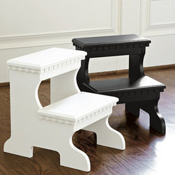 Ballard Designs - Bailey Step Stool - Solidly crafted of engineered wood. Dressy dentil molding details. Our sturdy Bailey Stepstool is tall enough to make high kitchen shelves practical and still light enough to help little ones to reach the bathroom sink. Best of all, it's good looking enough to leave out, so it's always when you need a little boost.Bailey Step Stool features:. .