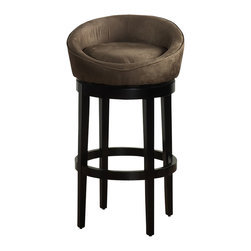 "Armen Living - Armen Living Igloo 26"" High Microfiber Swivel Counter Stool-Brown - Armen Living - Bar Stools - LCIGBAMFBR26 - Reflecting the lifestyle and trends of today with an eye towards tomorrow, the Armen Igloo Counter Stool blends distinctive styling with a contemporary flair that will truly enhance your home bar or kitchen's look."