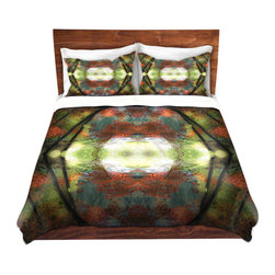 DiaNoche Designs - Duvet Cover Twill by Hooshang Khorasani - Autumn View - Lightweight and soft brushed twill Duvet Cover sizes Twin, Queen, King.  SHAMS NOT INCLUDED.  This duvet is designed to wash upon arrival for maximum softness.   Each duvet starts by looming the fabric and cutting to the size ordered.  The Image is printed and your Duvet Cover is meticulously sewn together with ties in each corner and a concealed zip closure.  All in the USA!!  Poly top with a Cotton Poly underside.  Dye Sublimation printing permanently adheres the ink to the material for long life and durability. Printed top, cream colored bottom, Machine Washable, Product may vary slightly from image.