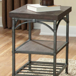 Liberty Furniture - Rustic Metal Chair Side Accent Table -