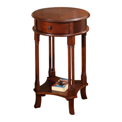 All Things Cedar - Round Accent Table - Classic Accents: A truly inviting selection of Classic Accent Furniture FEATURING Console Sofa Tables Wooden Wine Magazine Racks, Nesting Tables, and Glass Cherry Curio Cabinates. Item is made to order.