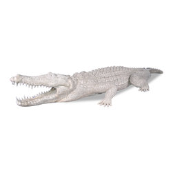 Amedeo Design - Alligator - Our Alligator is  perfectly crafted and realistic. Our products are made of lightweight weatherproof ResinStone. So authentic, you actually have to lift them to convince yourself they're not stone at all!