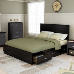 Sonax Willow Queen Storage Platform Bed - Ravenwood Black