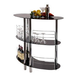 Winsome - Winsome Martini Entertainment Bar in Black - Winsome - Home Bars - 93347 - Create an instant bar counter with Martini Entertainment Unit.