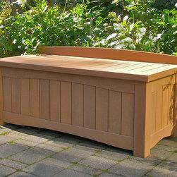 Garden Storage Bench - Cedar garden storage bench.