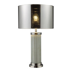 Dimond Lighting - D1596 Mont Alto Table Lamp, Chrome and Mirror - Modern Contemporary Table Lamp in Chrome and Mirror from the Mont Alto Collection by Dimond Lighting.