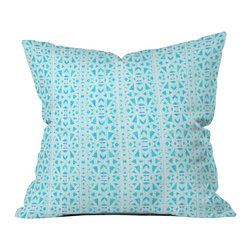 DENY Designs - Hadley Hutton Floral Tribe Collection 4 Outdoor Throw Pillow - Do you hear that noise? it's your outdoor area begging for a facelift and what better way to turn up the chic than with our outdoor throw pillow collection? Made from water and mildew proof woven polyester, our indoor/outdoor throw pillow is the perfect way to add some vibrance and character to your boring outdoor furniture while giving the rain a run for its money.