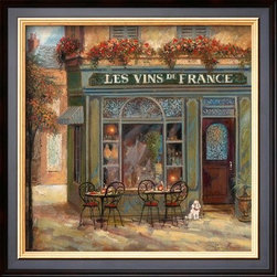 Artcom - Wine Shop by Ruane Manning Artwork - Wine Shop by Ruane Manning is a Framed Art Print set with a COVENTRY Black wood frame.