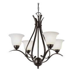 Trans Globe Lighting - Trans Globe Lighting PL-9280 ROB ES Ribbon Branched Mini Chandelier In BronzeEne - Simply elegant indoor lighting collection perfect for coastal dEcor themes with seagull wing chandelier supports. Matching pendant styles. Energy saving fixture uses GU-24 bulbs.