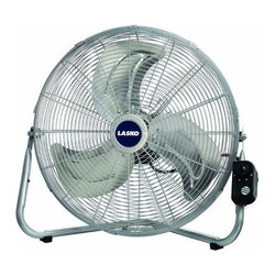 "Lasko Products - 20"" High Velocity Floor Fan - Max Performance 20"" High Velocity Floor or Wallmount Fan; Metal fan blades deliver maximum air movement; 3 powerful speeds; Durable tubular steel construction; Carry handle; Rubber pads protect surfaces; Three-prong grounded plug; Includes a patented  fused safety plug; E.T.L. listed; 7"" L x 22"" W x 22"" H  This item cannot be shipped to APO/FPO addresses. Please accept our apologies."