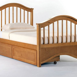 NE Kids - Schoolhouse Jordan Bed - Pecan - FUB407 - Shop for Beds from Hayneedle.com! The Schoolhouse Jordan Bed - Pecan has a fresh breezy look that will calm the mind and please the eyes. This piece is made from the toughest of hardwoods a promise of longevity and safety and finished in gorgeous pecan to positively vivify your child's space. If you are so inclined choose between the optional trundle bed and drawers to turn this already fantastic piece into a double-tasking master. This bed is also available in twin and full sizes so there will be something for all. The twin bed measures 81L x 42.75Wx 43H (headboard) and 33.75H (footboard) inches. The full bed measures 81L x 57.75W x 43H (headboard) and 33.75H (footboard) inches.About New Energy KidsNE Kids is a company with a mission: to create and import truly unique furniture for your child. For over thirty years they've been accomplishing this mission with flying colors one room at a time. Not only will these products look fabulous they will provide perfect safety for your children by adhering to the highest standards set by the American Society for Testing and Material and the Consumer Products Safety Commission. Your kids are in the best of hands and everyone will appreciate these high-quality one-of-a-kind pieces for years to come.