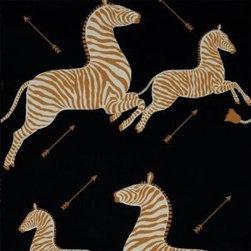 Zebras Wallpaper, Black - This black Zebras Wallpaper is stunning.