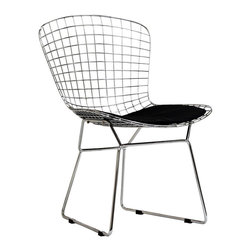 Modway - Modway EEI-161 CAD Dining Side Chair in Black - The minimal nature of this CAD Wire Side Chair is an asset for any lover of modern furniture. A simple yet stylish design evoking the height of modern classic design. As comfortable as it is attractive, this is the sort of accent chair that starts conversations.