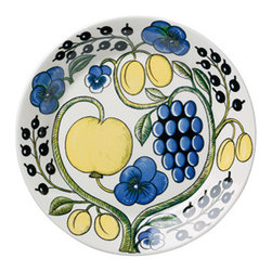 """Iittala Paratiisi Dinner Plate 10.25"""" - Birger Kaipiainen's Paratiisi dishes combine well-defined and controlled shapes with rich decoration, achieving a beauty that never fails to inspire. The captivating Paratiisi range is a much-loved classic from Arabia. It only takes one Paratiisi dish in a table setting to turn a meal into a celebration."""