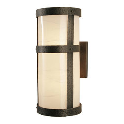 Steel Partners Inc - Sconce - Open Narrow - PORTLAND OPEN TALL - Every piece we create is unique — handcrafted at our factory in Chehalis, Washington, USA. Due to this, lead times are 2 to 4 weeks.