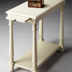 Butler - Chairside Table in Cottage White - This table is the ideal blend of function and design