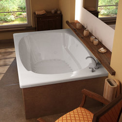 Venzi - Venzi Grand Tour Aqui 48 x 78 Corner Air & Whirlpool Jetted Bathtub - The Aqui series features a classic oval-shaped bathtub design, combined with recent luxury and safety industry trends. Body-wrapping armrests create an ultimate comfort zone, essential for a luxurious bathing experience.