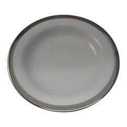 Ralph Lauren - Ralph Lauren Academy Platinum  Rim Soup Bowl - Ralph Lauren Academy Platinum  Rim Soup Bowl