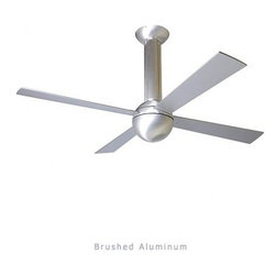 "Modern Fan - Modern Fan Stratos ceiling fan - The Stratos ceiling fan was designed by Ron Rezek for The Modern Fan Co. Designed in 1986, the Stratos was the first truly modern ceiling fan. It has no reference to the Victorian era designs that still pervade the fan industry. Among its innovations is its structural down rod, as well as Ron Rezek's patented, single-piece, die-cast rotor.     Product Details:   The Stratos ceiling fan was designed by Ron Rezek for The Modern Fan Co. Designed in 1986, the Stratos was the first truly modern ceiling fan. It has no reference to the Victorian era designs that still pervade the fan industry. Among its innovations is its structural down rod, as well as Ron Rezek's patented, single-piece, die-cast rotor.                                        Manufacturer:                                      The Modern Fan Company                                                     Designer:                                     Ron Rezek                                                     Made in:                                     USA                                                     Dimensions:                                      Height: 17"" (43.2 cm) X Blade Span: 42"" (106.7 cm) or 52"" (132.1 cm)                                                     Light Bulb:                                     1 X 75W Halogen or 1 X 18W Energy Saving CFL Fluorescent"
