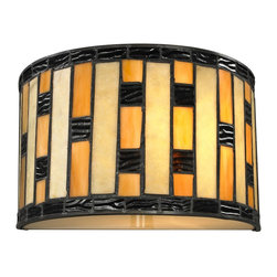 Z-Lite - Z-Lite Raya Wall Sconce X-SW15-01Z - The Raya family of tiffany lights add color and warmth to your living space with the alternating shades of honey accented with amber. Java bronze hardware complete the 1 Light Wall Sconce fixture to achieve a timeless look.