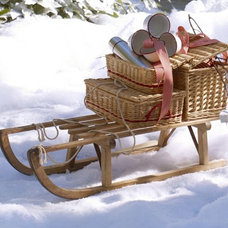 PB Found Wood Sled | Pottery Barn