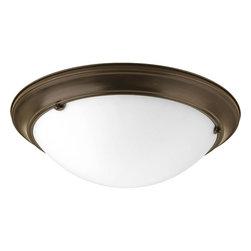 "Progress Lighting - Progress Lighting P3481-20 Eclipse 19-3/8"" Three Light Flush Mount Ceiling - Features:"